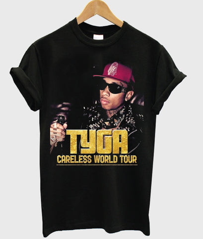 tyga careless world tour t shirt