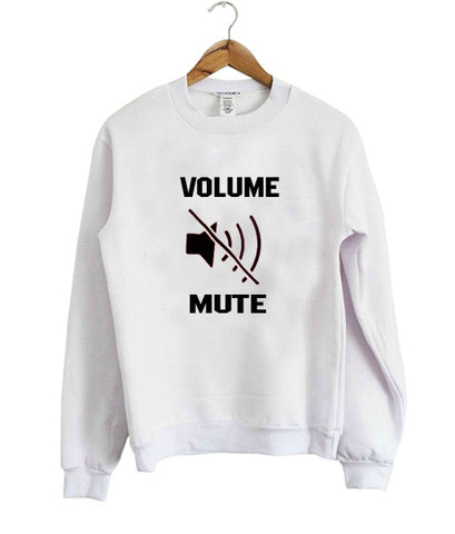 volume mute sweatshirt