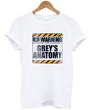 warning grey's T shirt