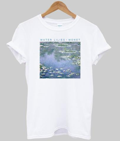 water lilie monet tshirt