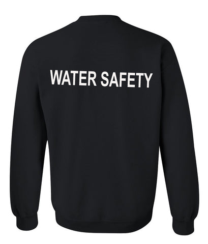 water safety sweatshirt back