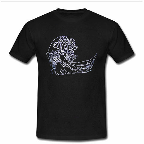 waves visual art T shirt