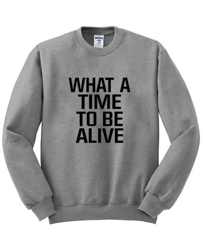 what a time sweatshirt