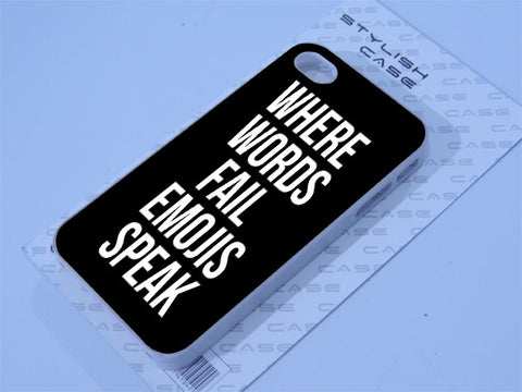Where words fail emojis speak Phone case iPhone case Samsung Galaxy Case