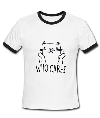 who cares tshirt ring
