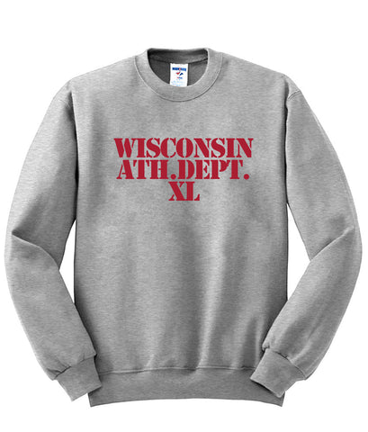 wisconsin athletic dept sweatshirt