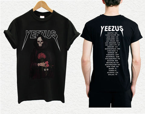 yeezus shirt yeezus skeleton yeezus tour shirt kanye west 2