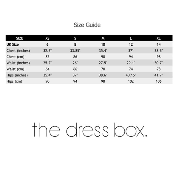 The Dress Box Size Guide