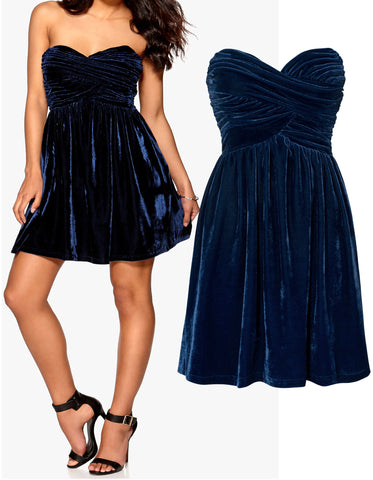 Jersey Wrap Pleated Dress