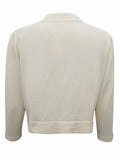 Women's kine Knit cream bolero with 3/4 length sleeves