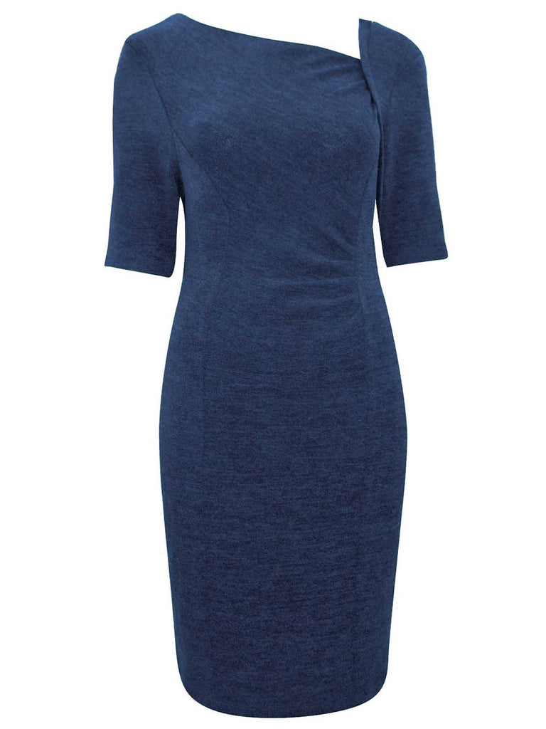 Ladies Stylish Day Dress With Elbow Length Sleeves - Front