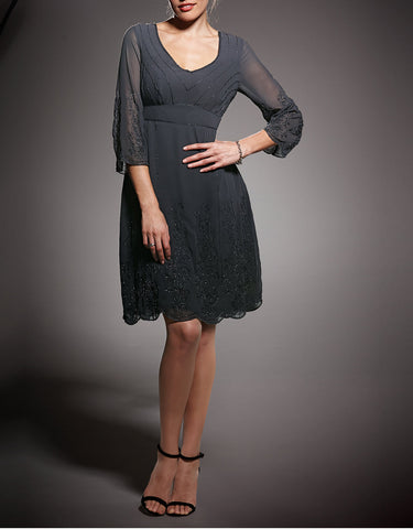 Long Sleeve Black Lace Dress
