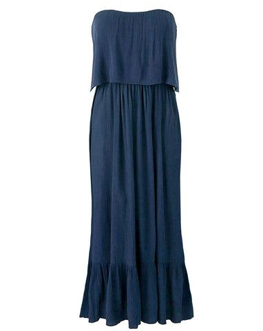 Navy Blue Sleeveless Athena Dress