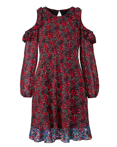 Flower Print Cotton Dress