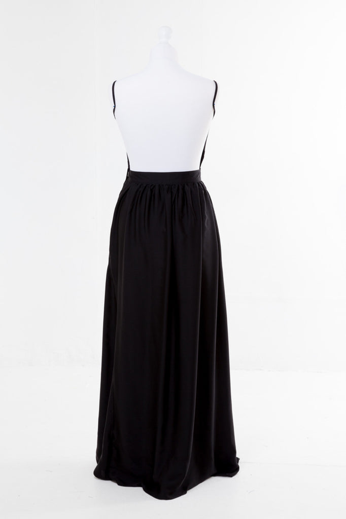 Halter Neck Maxi Dress - The Dress Box Collection - Black Rear