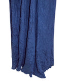 Ladies Fashion Crinkle Maxi Evening Dress in Luscious Deep Navy Blue - Material