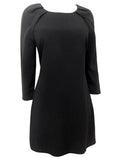 Womens Little Black Dress Blac Crepe - Front