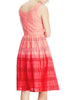 Ladies Fashion Orange Broderie Anglaise Ombre Summer Dress - Angle