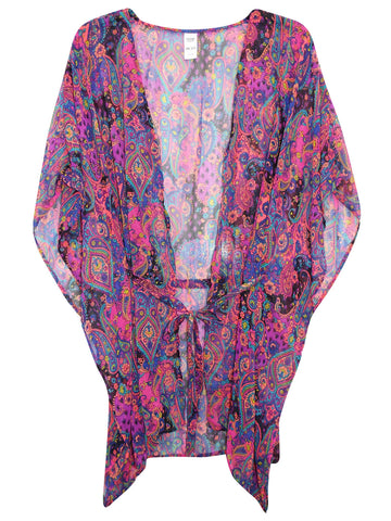 Plus Size Tropical Print Tunic
