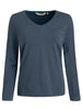 Women's fashion t-shirt with long sleeves in plus sizes, machine washable - front