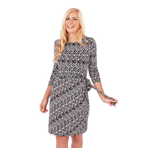 Monochrome, Aztec Print Dress