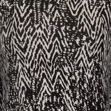 Ladies Fashion Day Dress, Monochrome, Aztec Print - Front Close Up