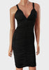 Women's Bodycon Cocktail Dress, Sleeveless With Cross Over Straps - Front