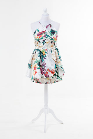 Floral Print V-Neck Summer Dress