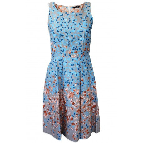 Beautiful Blue Floral Print Dress