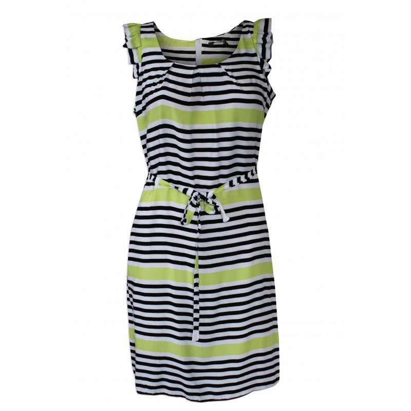 Monochrome and Lime Summer Dress