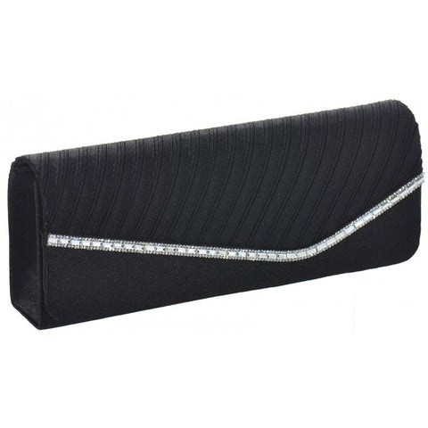Dark Blue Diamante Clutch Bag