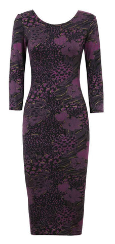 Floral Print Strapless Bodycon Dress