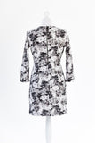 Photo Print Floral Shift Dress - Mini Length