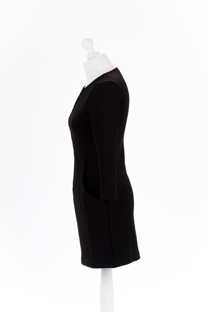 Zip Sleeve Shift Dress The Dress Box Collection - Black Side