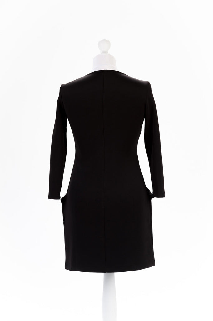Zip Sleeve Shift Dress The Dress Box Collection - Black Rear