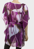 Purple Swirls Chiffon Top