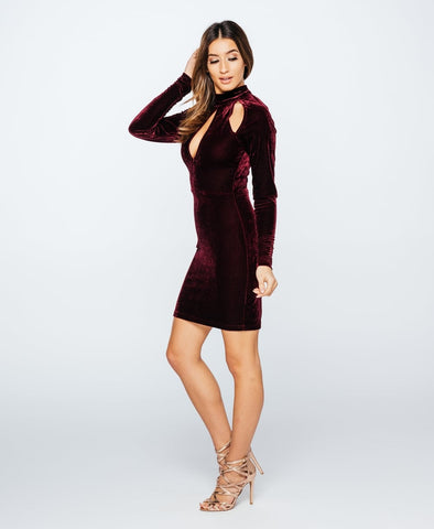Split Sleeve, Colour Block, Bodycon Party