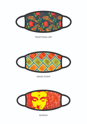 3 Layer - Washable and Reusable Adult Face Mask - Pack of 3