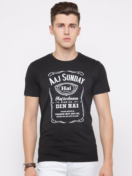 Coolyug Aaj Sunday Men's T-Shirt