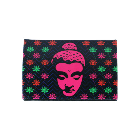 Buddha With Lotus Visiting Card Holder PU