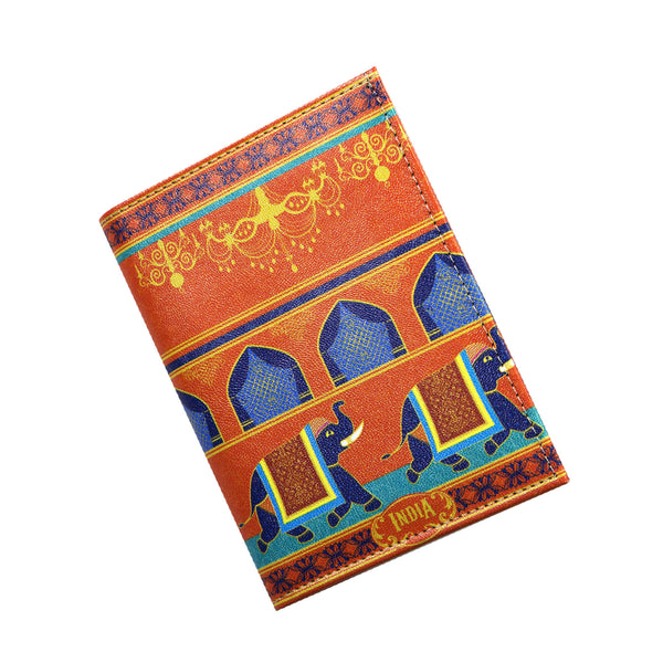 Elephant Procession Passport Holder