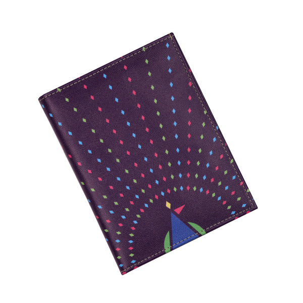 Geometric Peacock Passport Holder