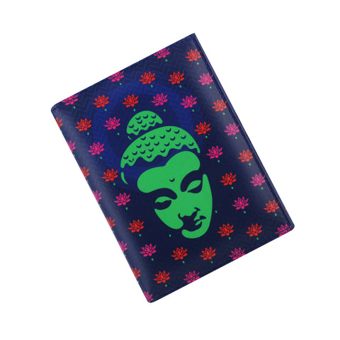 Buddha Green Passport Holder