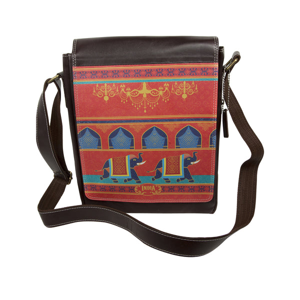 Elephant Procession Sling Bag