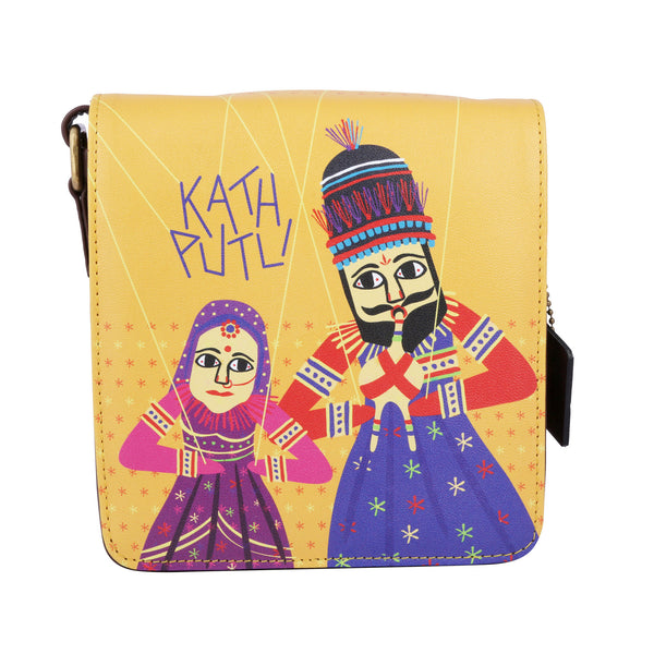 Kathputali Sling Bag Square