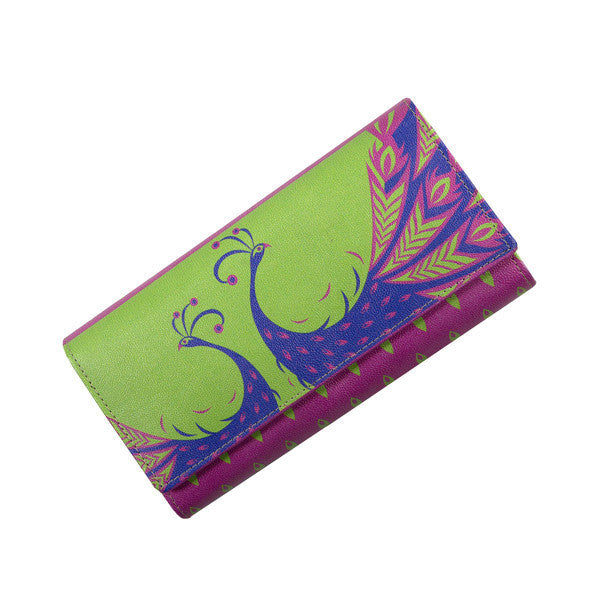 Funky Peacock Womens Clutch