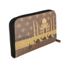 Taj Mahal With Camel Zipper Women's Clutch