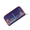 Delhi Monuments Zipper Women's Clutch