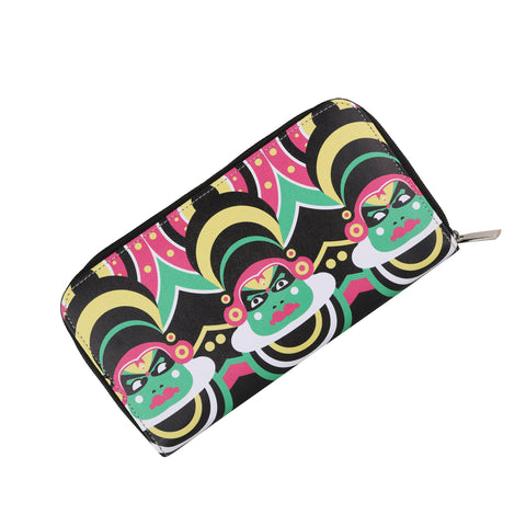 Kathakali Zipper Women's Clutch