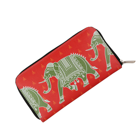 Elephant Zipper Women's Clutch